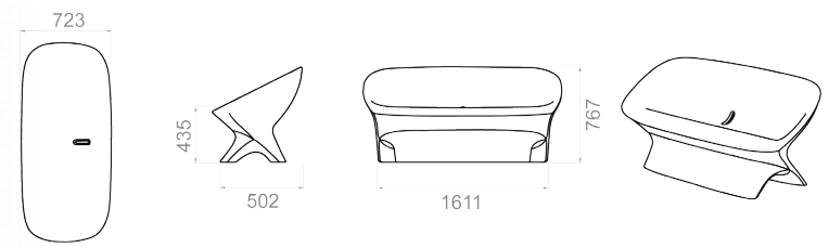 dimensions canapé ublo