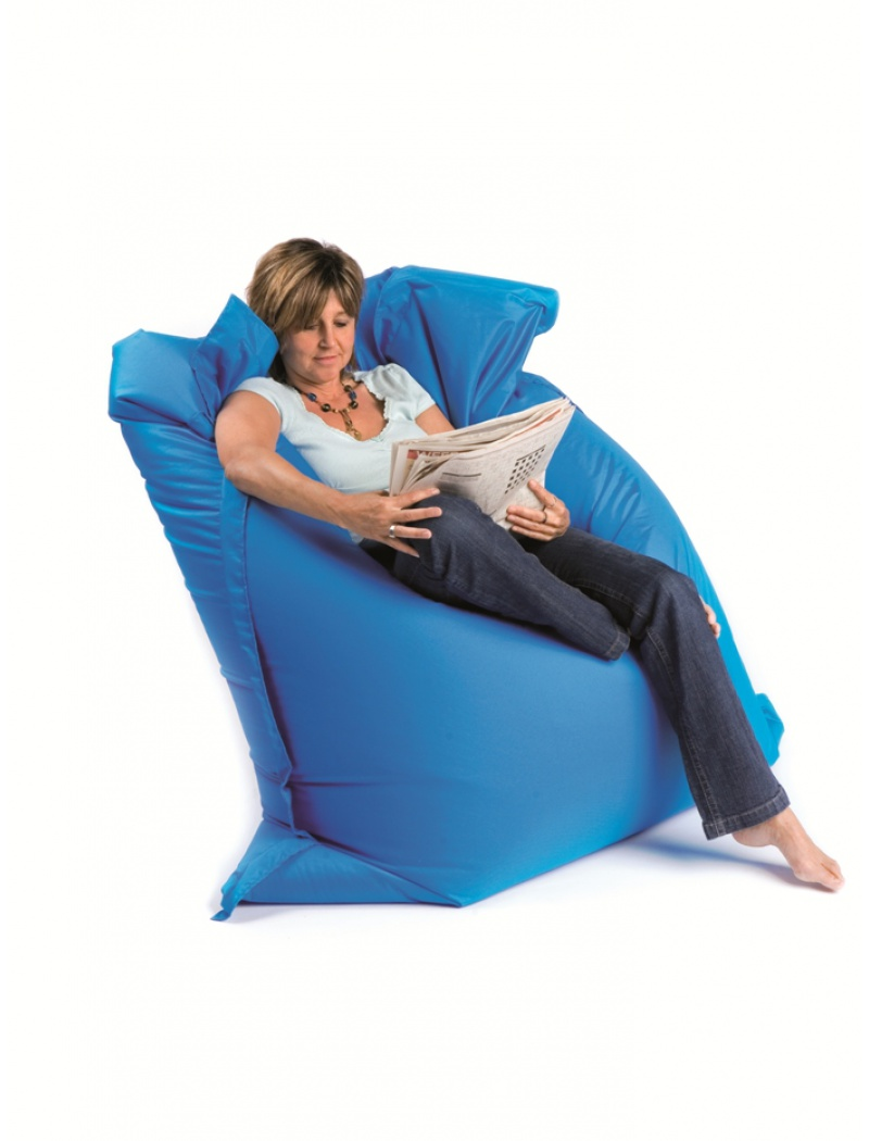 Sit On It Pouf Sitonit Bleu électrique
