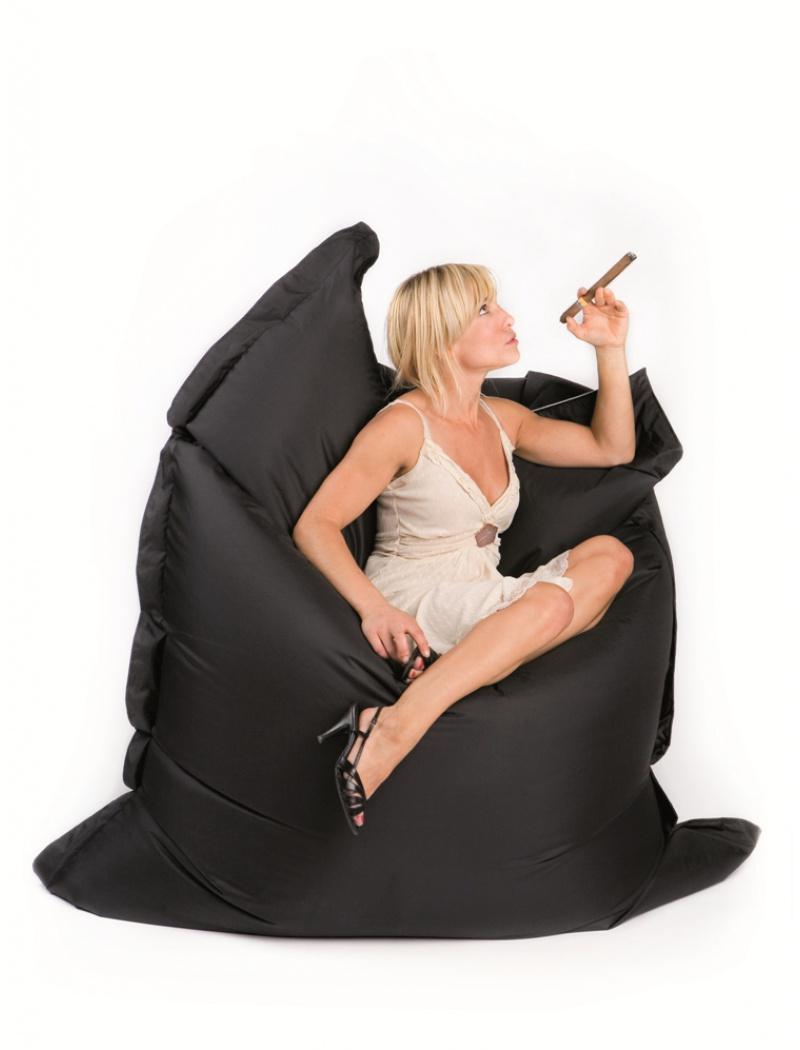 Sit On It Pouf Sitonit Noir