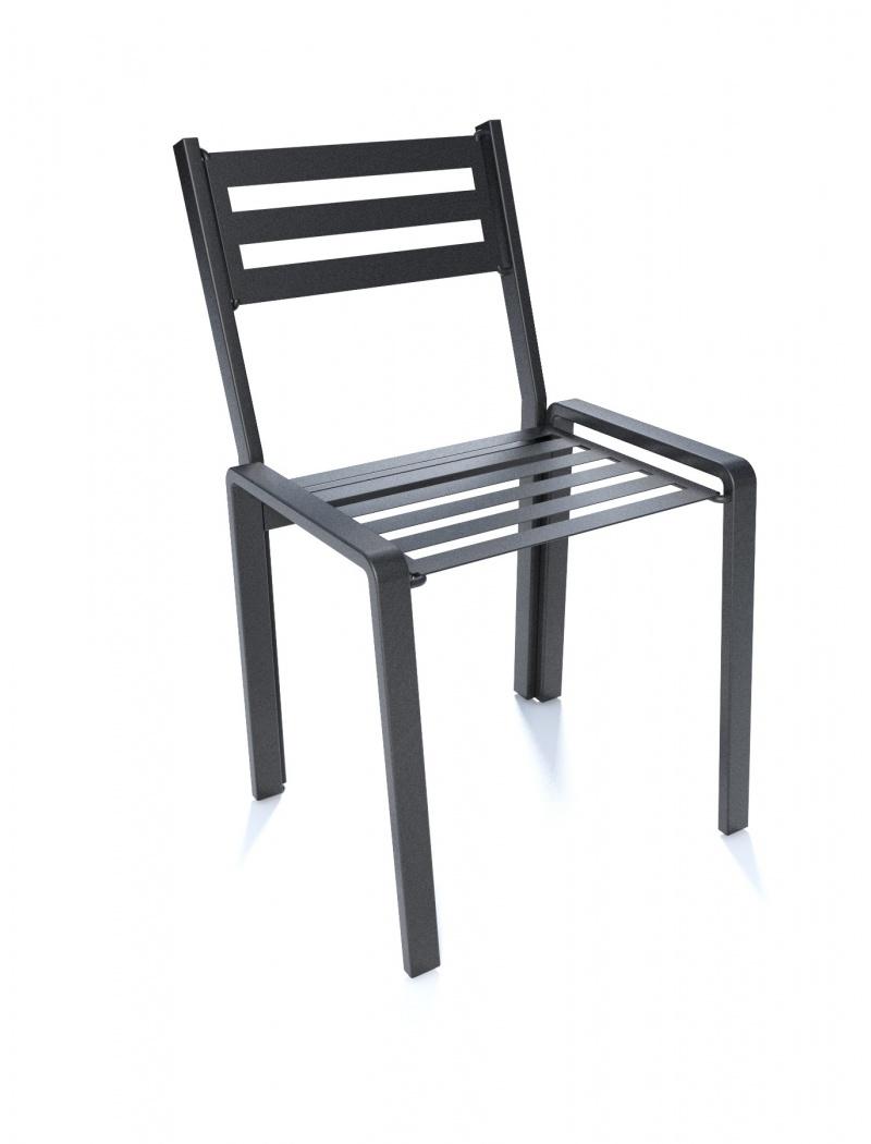 chaises acier finest salon de jardin table chaises acier dean street with chaises acier. Black Bedroom Furniture Sets. Home Design Ideas