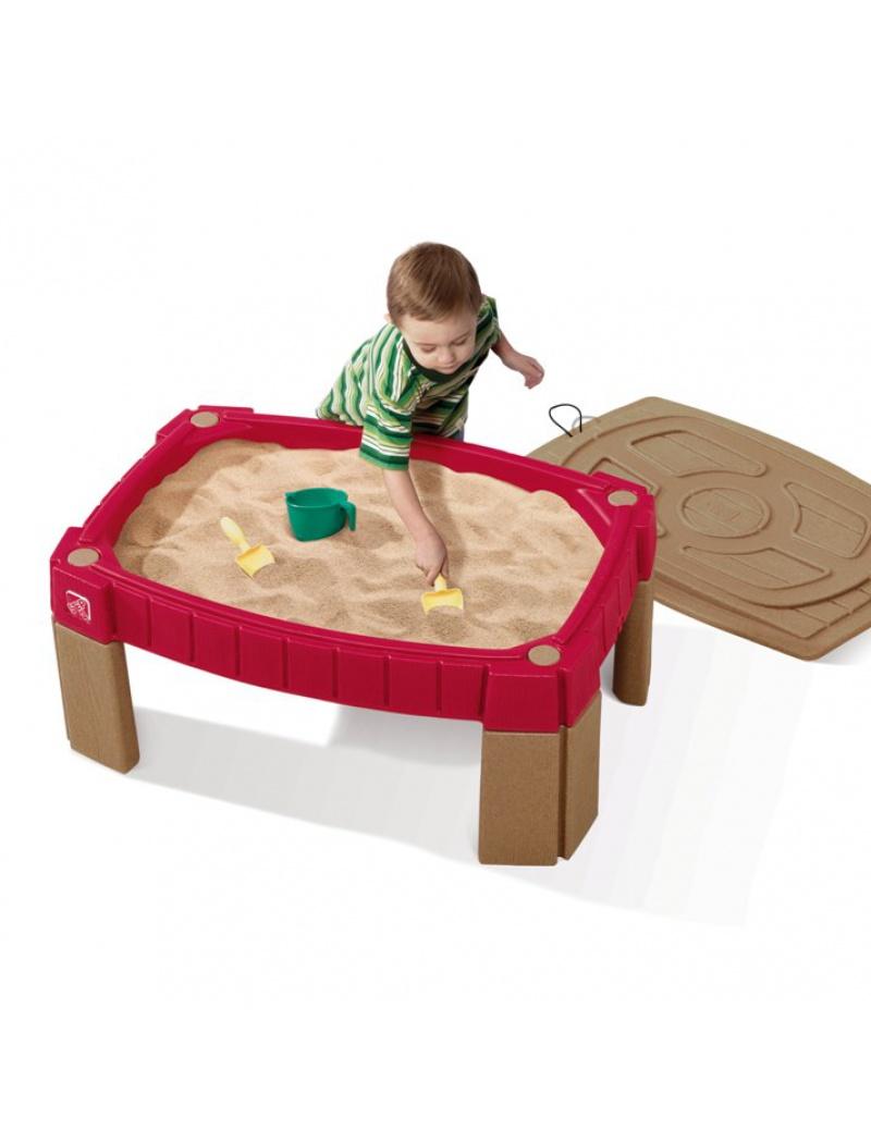 Jeux d'extérieur : bac à sable Step 2 avec couvercle en plastique