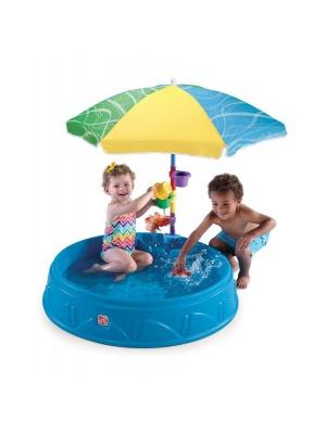 Bac à eau et parasol