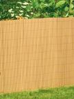 Canisse en PVC coloris Bambou