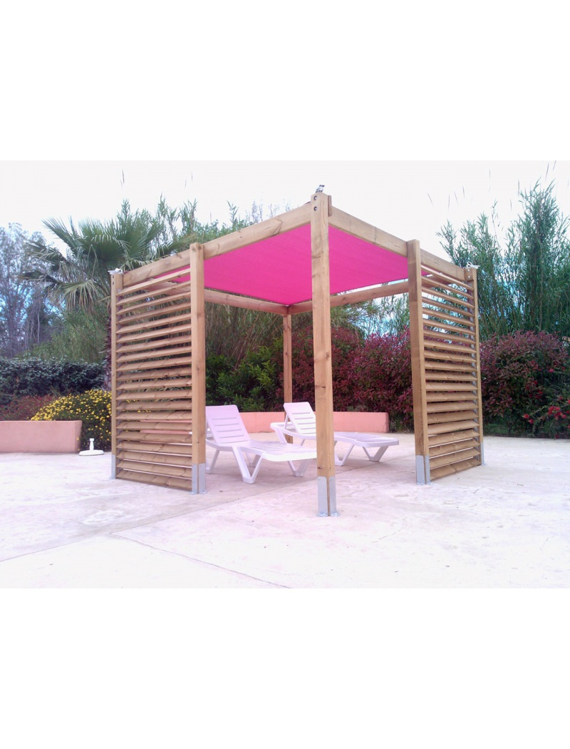 pergola bois eole fuschia jardin concept tonnelle et. Black Bedroom Furniture Sets. Home Design Ideas