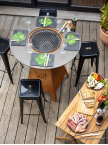 Table brasero-plancha MAGMA acier corten