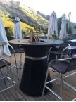 Table haute Brasero Plancha Fusion Bois