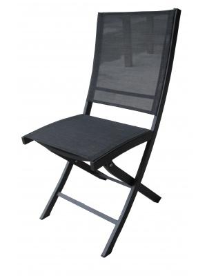 Chaise pliante Bali noire