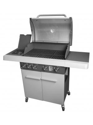 Barbecue 4 feux et table de cuisson