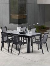 Ensemble HPL Star Noir 6 fauteuils