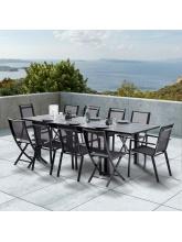 Ensemble HPL Star Noir 6 fauteuils + 4 chaises