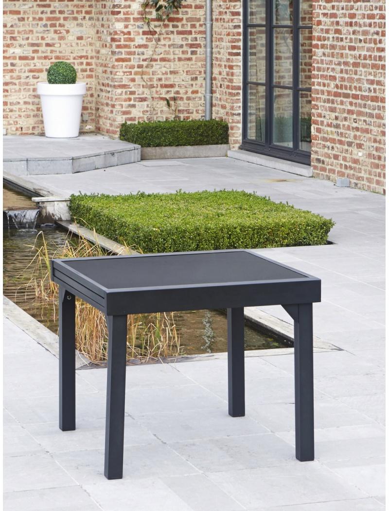 Table Modulo Noire 4/8 personnes Wilsa - Tables de jardin en ...