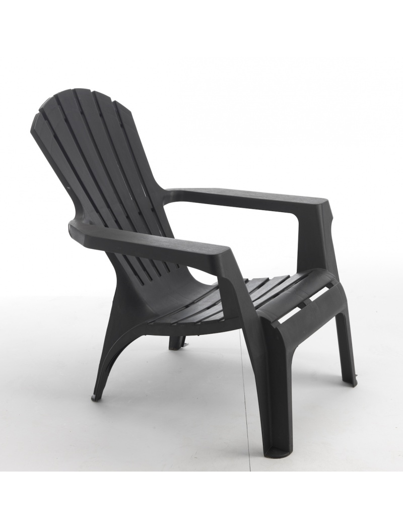 fauteuil adirondack anthracite wilsa fauteuils bas jardin concept. Black Bedroom Furniture Sets. Home Design Ideas