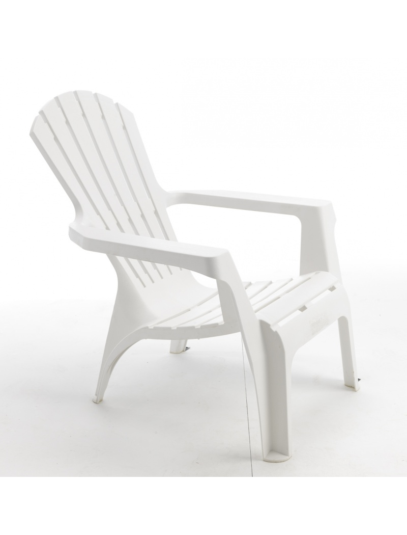fauteuil adirondack blanc wilsa fauteuils bas jardin concept. Black Bedroom Furniture Sets. Home Design Ideas