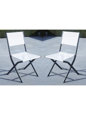 Chaise pliante Modulo blanche