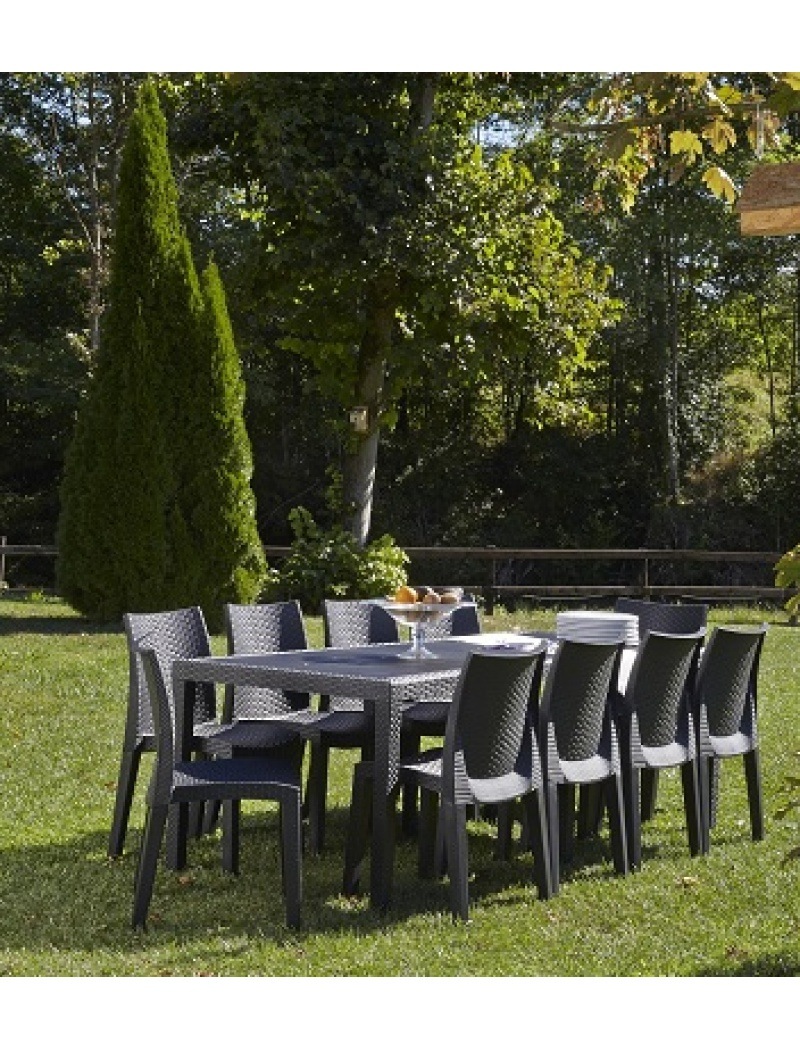 Best Salon De Jardin Pvc Anthracite Contemporary - Amazing House ...