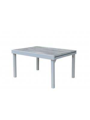 Table Modulo Décor bois Blanche 6/10 personnes