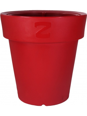 Pot classique rouge