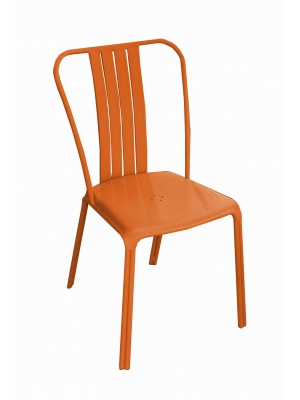 Chaise Azuro aluminium Orange