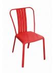 Chaise Azuro aluminium Rouge mat