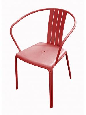 Fauteuil Azuro aluminium Rouge mat