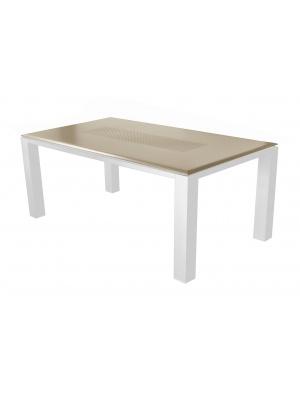 Table Gela 180 Blanc / Taupe