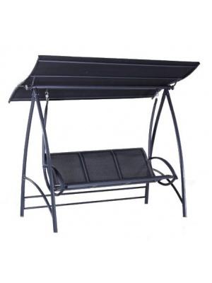 Balancelle Aluminium Gris avec toit Proloisirs