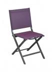 Chaise pliante Thema Gris Royal / Cassis