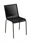 Chaise Polo en acier Noire