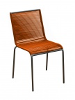 Chaise Polo en acier Orange