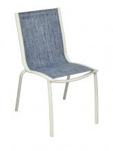 Chaise Linéa Blanc / Bleu jean's