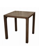 Table Milano carrée 73 cm Brun