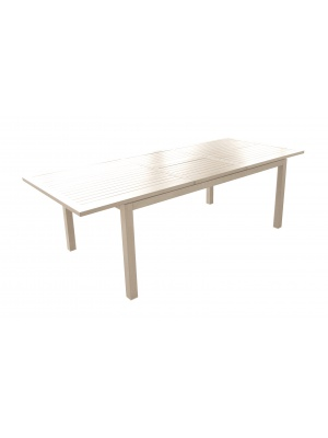 Table Milano 180/240 Grège avec allonge