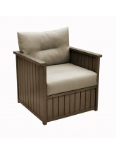 Fauteuil bas Milano Brun / Taupe