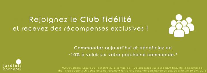 Rejoignez le club fidélité !