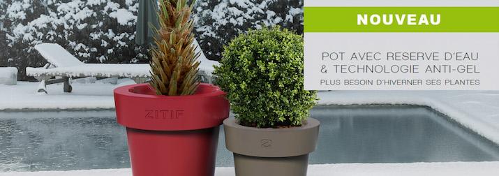 Pot de fleurs Zitif avec système anti-gel