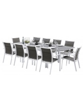Ensemble Modulo 10 fauteuils Stone Blanc