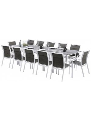 Ensemble Modulo 12 fauteuils Stone Blanc