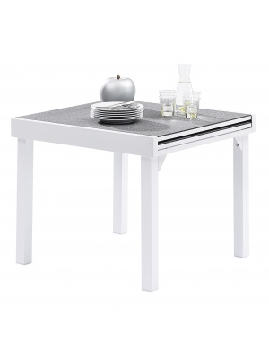 Table Modulo 4/8 Stone Blanc