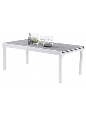 Table Modulo 8/12 Stone Blanc