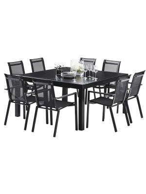 Ensemble Black Star Full Verre Noir 8 fauteuils