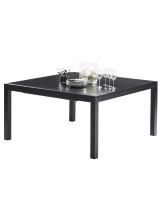 Table Black Star Full Verre Noir 8/12 places