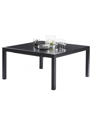 Table Black Star Full Verre Noir 8/12 places
