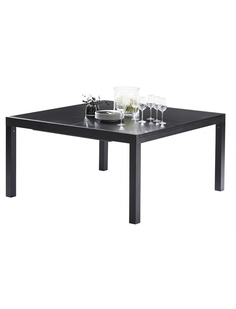 Wilsa Garden Table Black Star Full Verre Noir 8/12 places