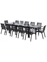Ensemble HPL Star Noir 12 fauteuils