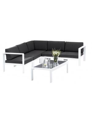 Canapé d'angle Orlando Blanc