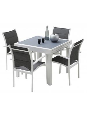 Ensemble Modulo 4 blanc / gris perle