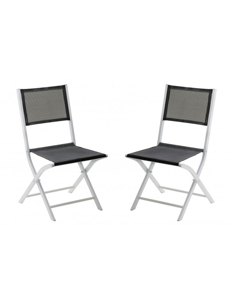 chaise pliante modulo gris perle wilsa chaises fauteuils alu textil ne jardin concept. Black Bedroom Furniture Sets. Home Design Ideas