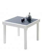 Table Modulo Blanche/Gris perle 4/8 personnes