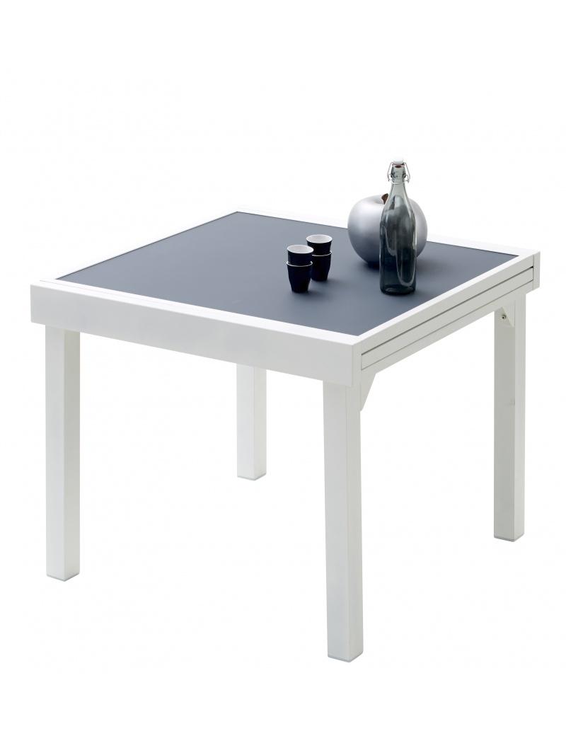 Table Modulo Blanche/Gris perle 4/8 personnes Wilsa - Tables de ...