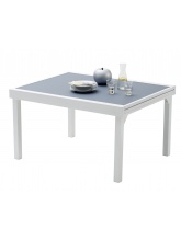 Table Modulo Blanche / Gris perle 6/10 personnes